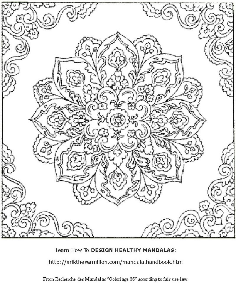 Mandala Coloring Pages Printable | Free Mandala Coloring Book - Free Printable Mandala Coloring Pages For Adults