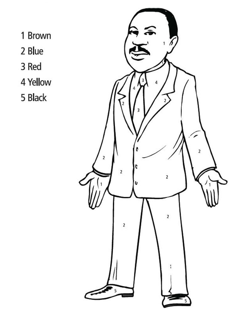 Martin Luther King Jr Coloring Pages | Martin Luther King Jr - Martin Luther King Free Printable Coloring Pages