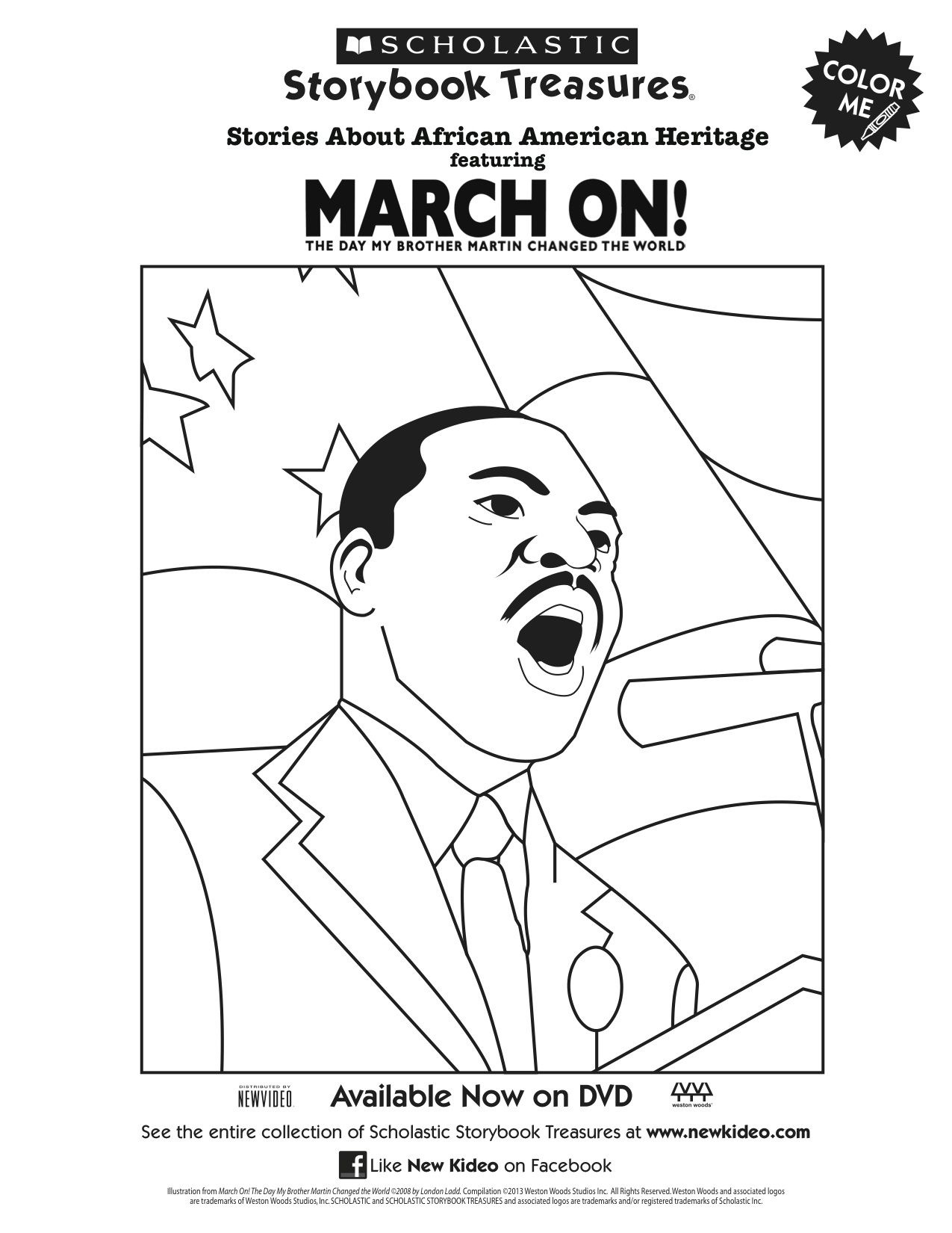 Martin Luther King Jr. March On Coloring Page | Printable Coloring - Martin Luther King Free Printable Coloring Pages