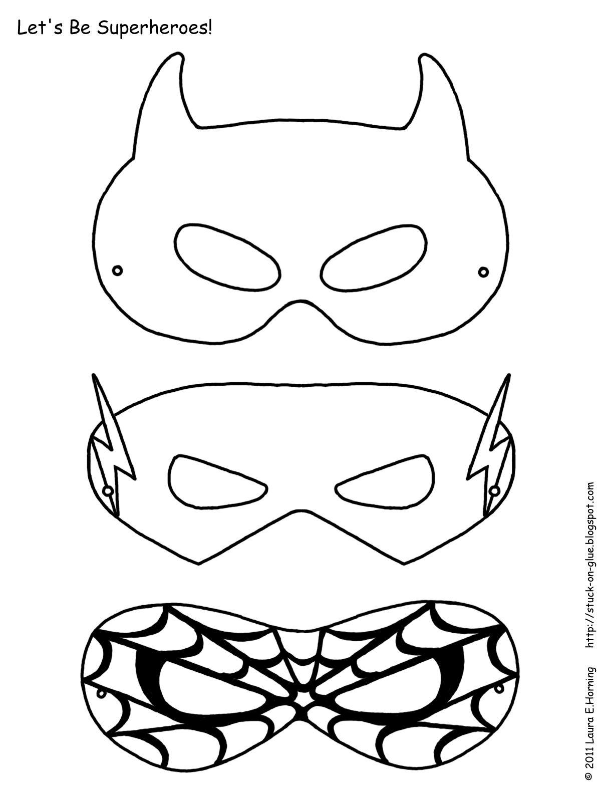 Mask Printable   Free Printable Superhero Mask Template   Masks - Superman Mask Printable Free