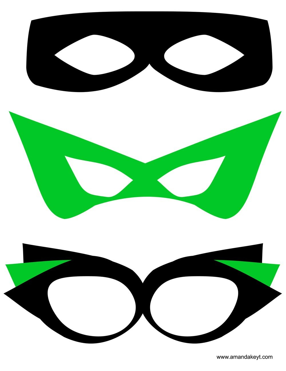 Masks From Super Hero Green Printable Photo Booth Prop Set | Taw - Free Printable Superhero Photo Booth Props