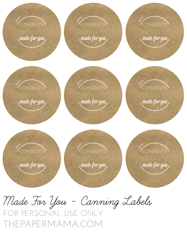 Mason Jar Lid Labels - Google Search | Diy Labels | Canning Jar - Free Printable Mason Jar Labels