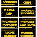 May The 4Th Be With You   Star Wars Food Free Printables | May The   May The Force Be With You Free Printable