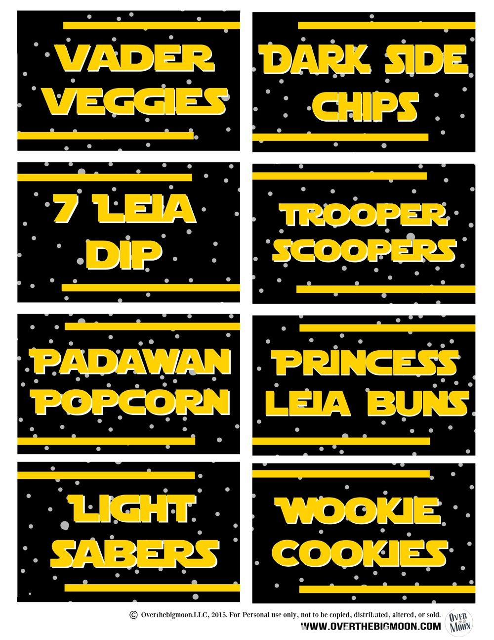 May The 4Th Be With You - Star Wars Food Free Printables   May The - May The Force Be With You Free Printable