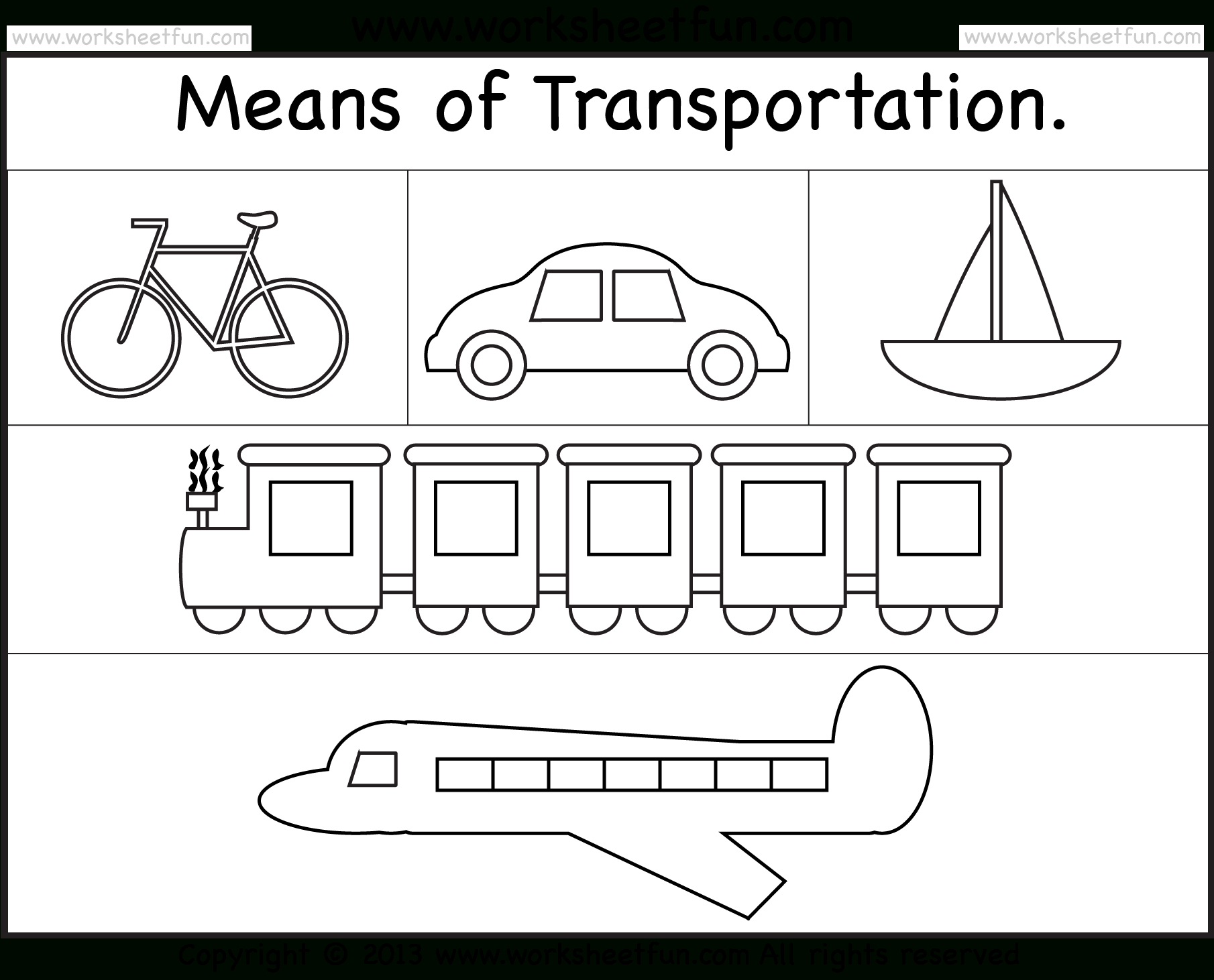 Means Of Transportation – Worksheet / Free Printable Worksheets - Free Printable Transportation Worksheets For Kids