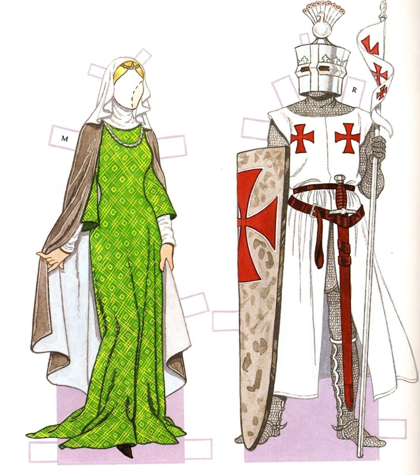 Medieval Period 1200 - 1350 | Costumestom Tierney | Paper Dolls - Medieval Paper Dolls Free Printable