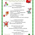 Merry Christmas Everyone Song Worksheet   Free Esl Printable   Christmas Song Lyrics Game Free Printable