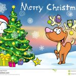 Merry Christmas Greeting Card Stock Vector   Illustration Of Card   Free Printable Xmas Cards Download