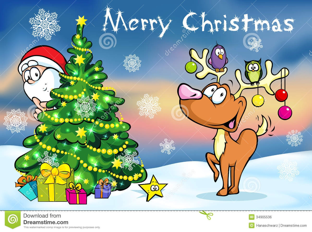 Merry Christmas Greeting Card Stock Vector - Illustration Of Card - Free Printable Xmas Cards Download