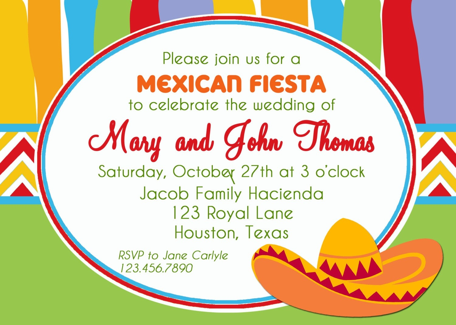 Mexican Fiesta Invitation Printable Or Printed With Free   Etsy - Free Printable Fiesta Invitations