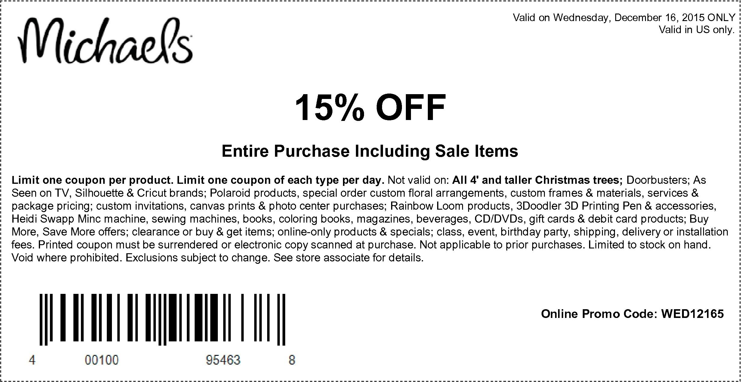 Michaels Free Printable Coupons   Printable Coupons Online - Free Printable Michaels Coupons