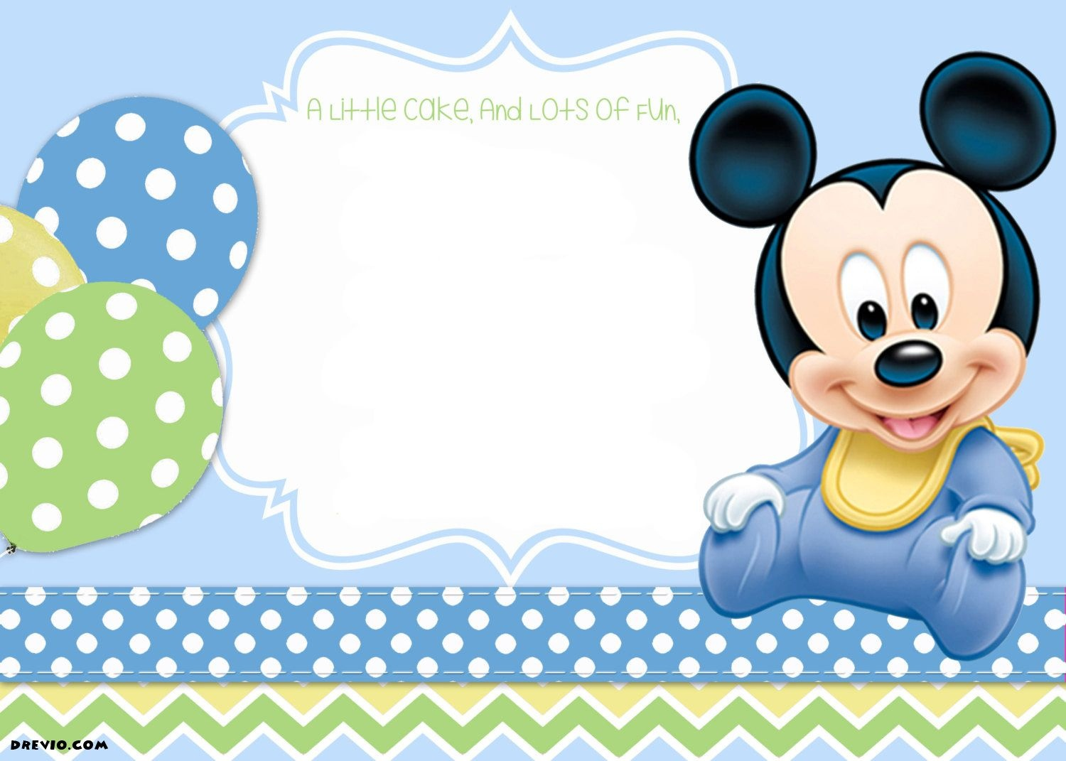 Mickey Mouse 1St Birthday | Tiago's Birthday | 1St Birthday - Free Printable Baby Mickey Mouse Birthday Invitations
