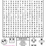 Middle School Free Printable Halloween Math Worksheets For Pre   Free Printable Word Searches For Middle School Students