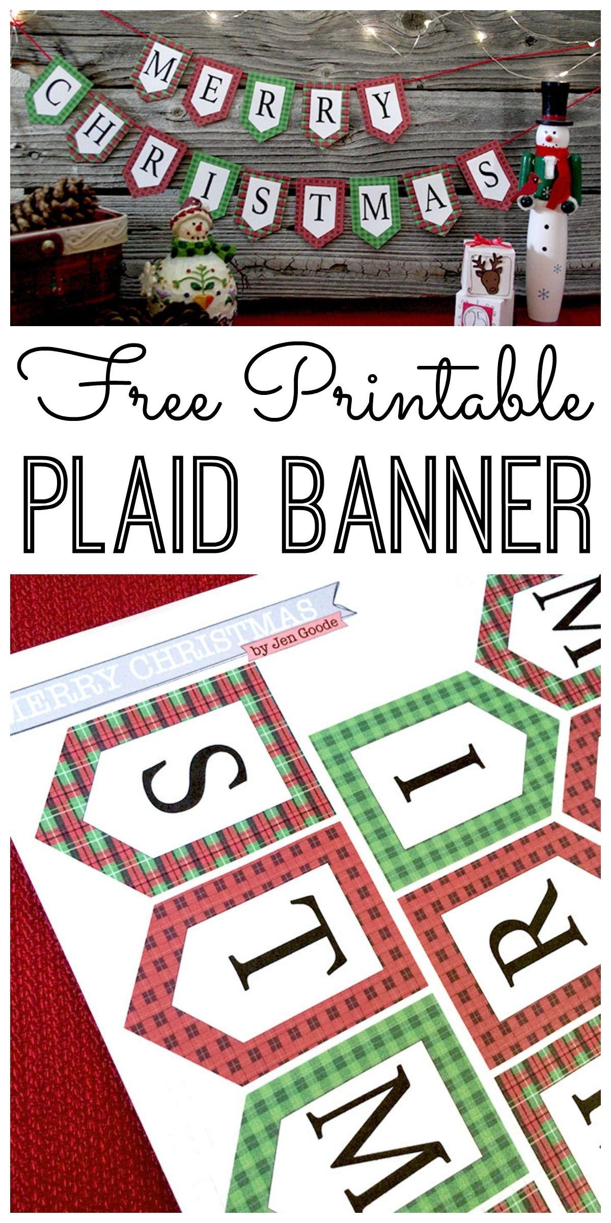 Mini Merry Christmas Banner And Holiday Printables Blog Hop   Cricut - Free Printable Christmas Banner