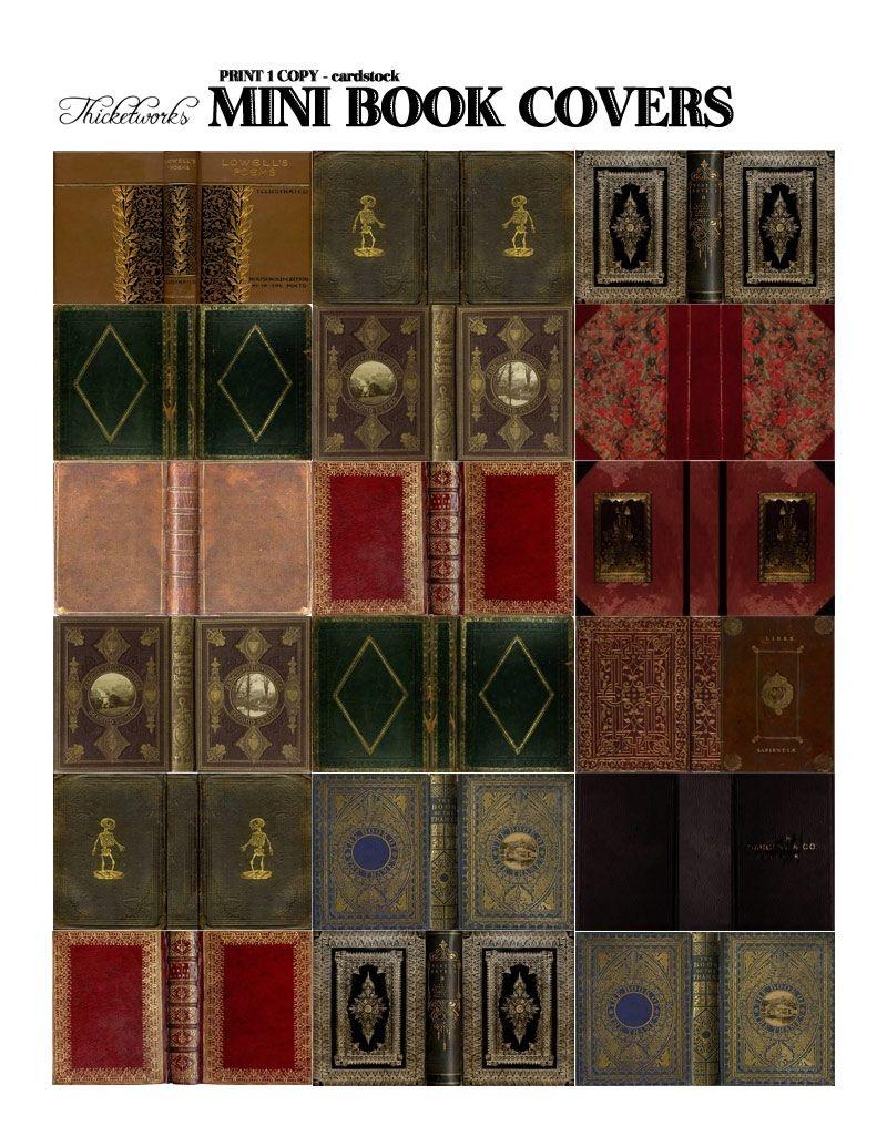 Miniature Books - A Love Affair | Free Printables | Diy Dollhouse - Free Printable Miniature Book Covers