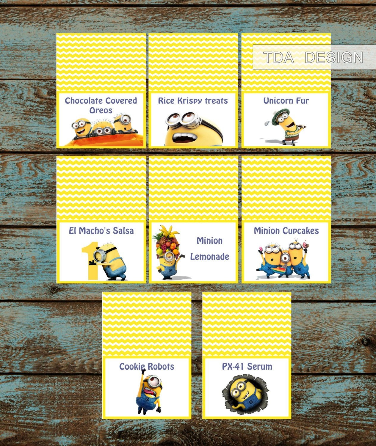 Minions Food Labels,despicable Me Minions Birthday Party Food Tent - Free Printable Minion Food Labels