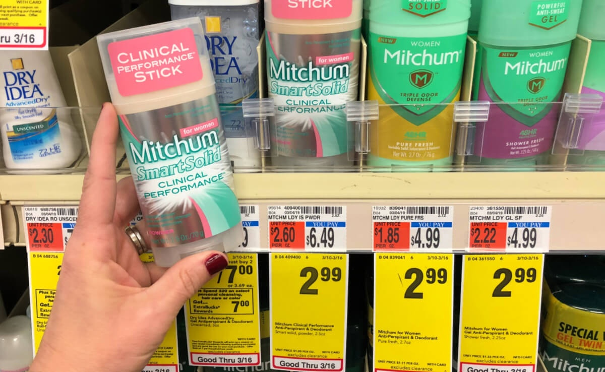 Mitchum Smart Solid Clinical Performance Deodorant As Low As $0.99 - Free Printable Coupons For Mitchum Deodorant