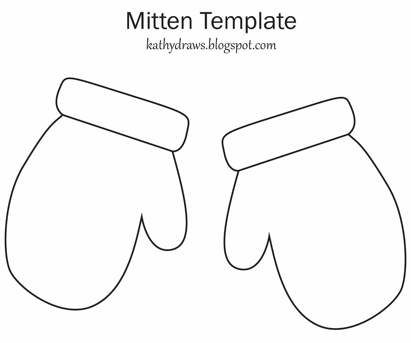 Mittens Template. Mittens Clipart Clipart Kid. Mittens Templates And - Free Mitten Template Printable