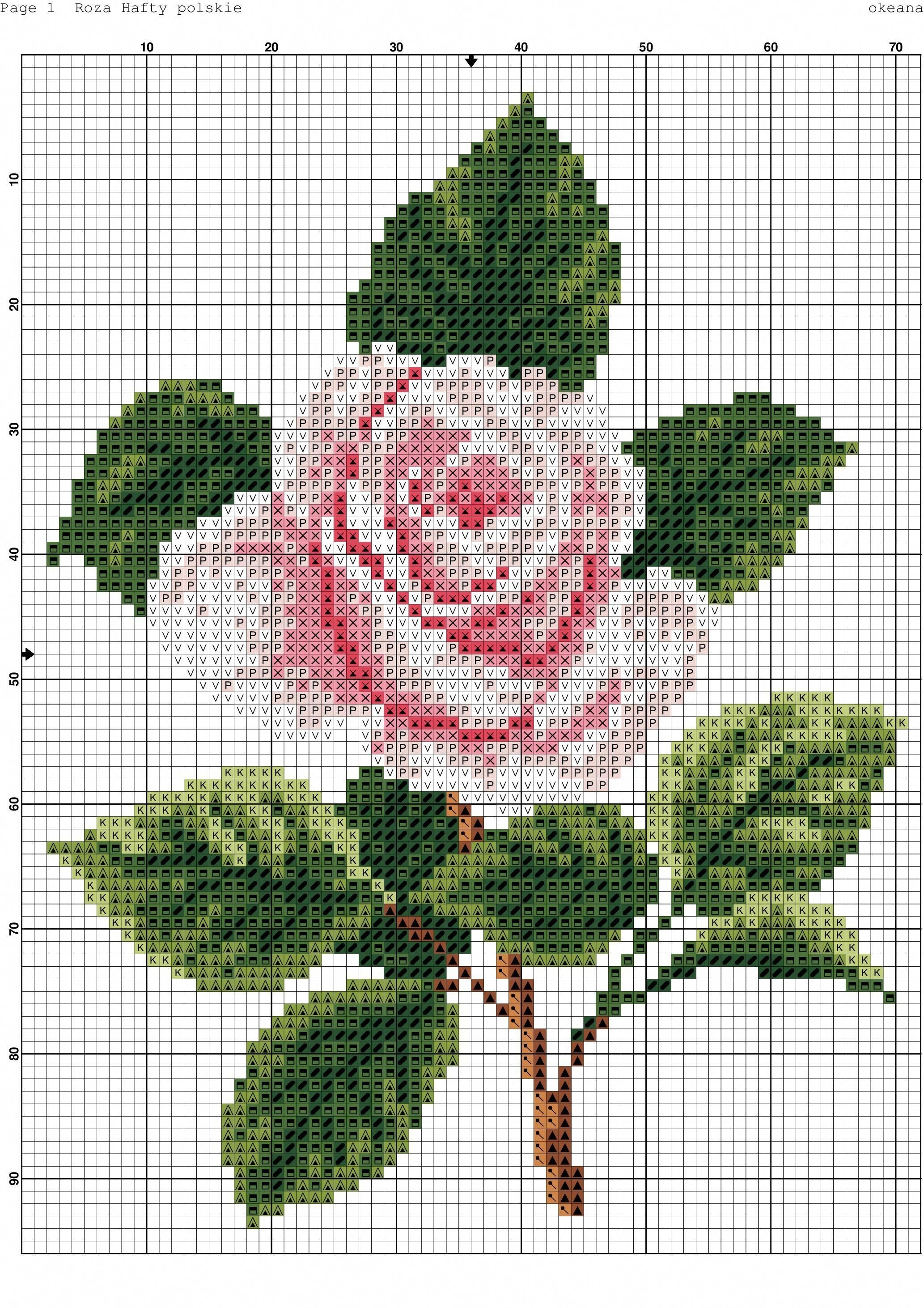 Modern Counted Cross Stitch Patterns #countedcrossstitches   Cross - Free Printable Cross Stitch Patterns Flowers