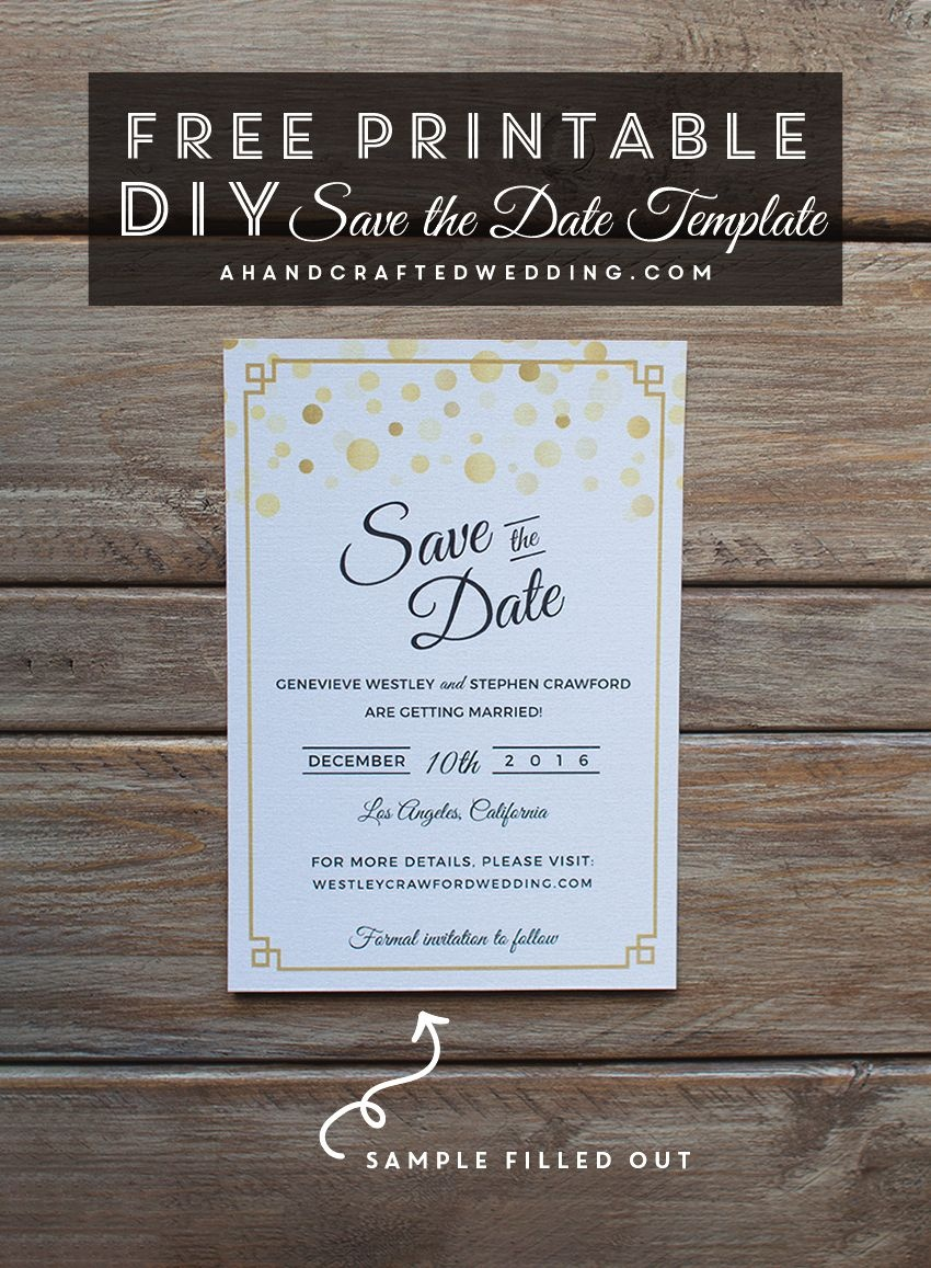 Modern Diy Save The Date Free Printable | | Free Wedding Printables - Free Printable Save The Date Invitation Templates