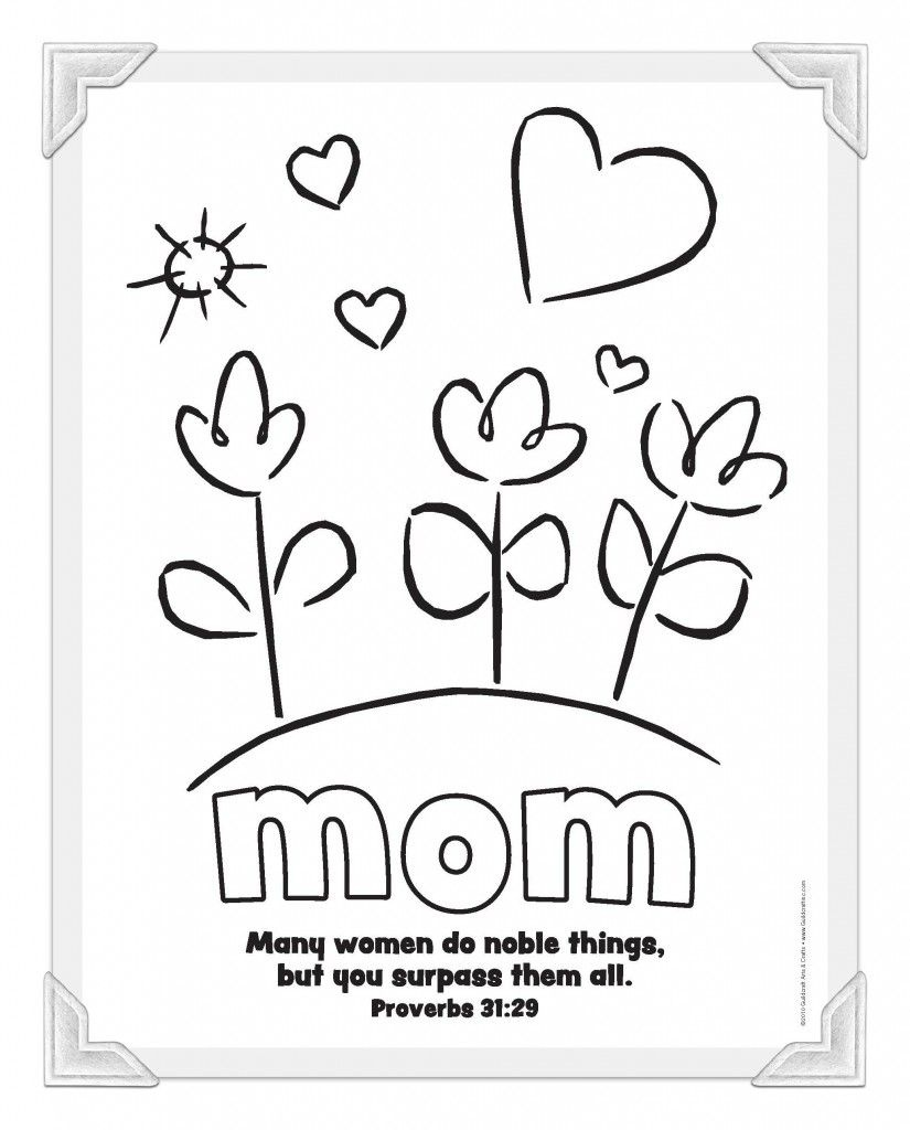 Mom-Coloring-Page | Sunday School | Mothers Day Coloring Pages - Free Printable Mothers Day Cards To Color