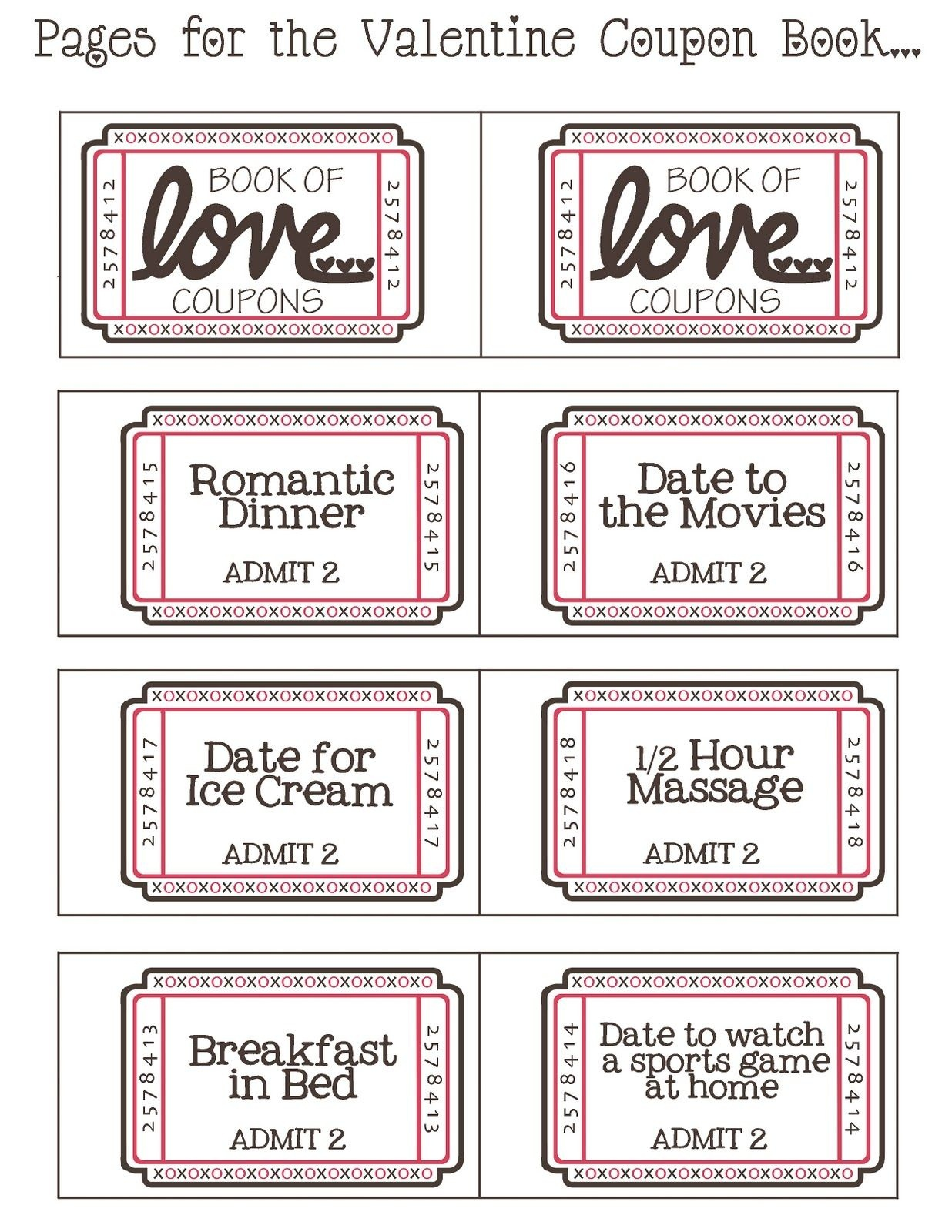 Mommyday Crafternight: {Free Printable} Valentine Coupon - Free Printable Coupons For Husband