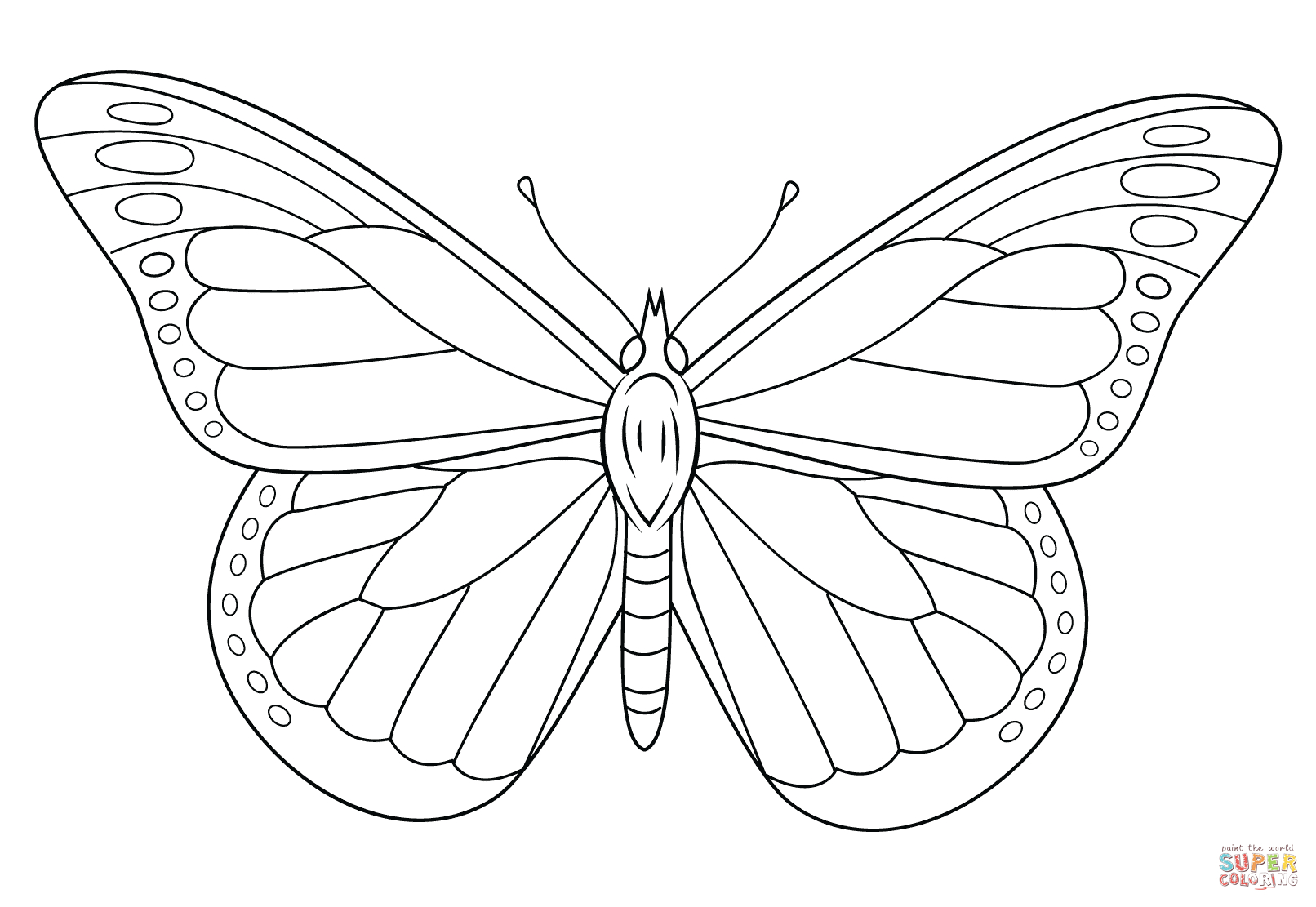 Monarch Butterfly Coloring Page | Free Printable Coloring Pages - Free Printable Butterfly Pictures
