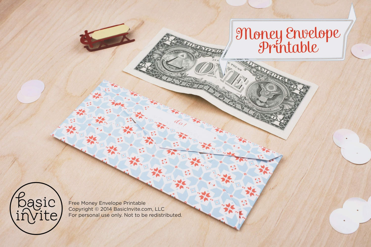 Money Envelope Printable - Free Printable Money Envelopes
