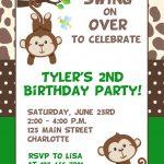 Monkey Birthday Invitations Free Printable   Free Printable Monkey Birthday Party Invitations