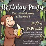 Monkey Theme Birthday Party, Monkey Birthday Party Invitation   Free Printable Monkey Birthday Party Invitations