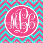 Monogram Binder Cover Printable Free | Set Of 6 Binder Cover Insert   Free Printable Monogram Binder Covers