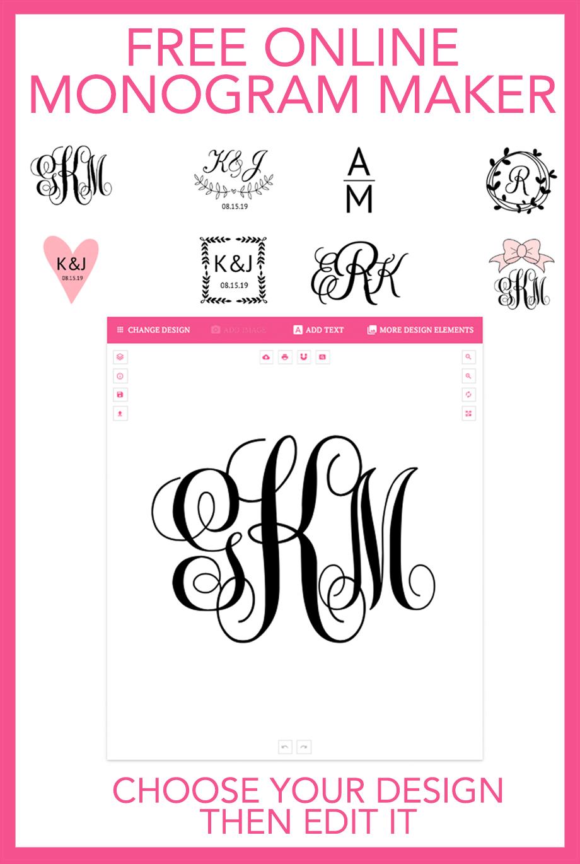Monogram Maker | Free Printables - Free Printable Wall Art, Free - Monogram Maker Online Free Printable