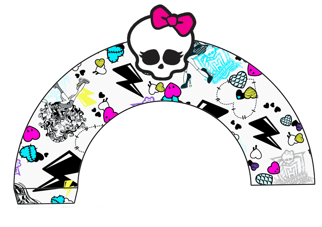 Monster High: Free Printable Cupcake Toppers And Wrappers. - Oh My - Monster High Cupcake Toppers Printable Free