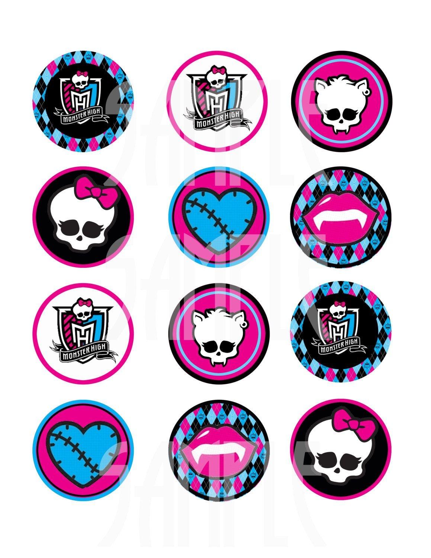 Monster High Logo Skull Monster High Logo Printable | Tattoo Ideas - Monster High Cupcake Toppers Printable Free