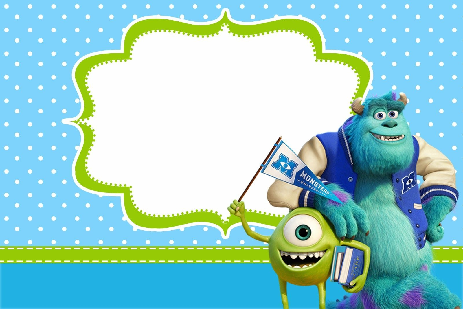 Monster University: Free Printable Party Invitations. | Monsters Inc - Free Printable Monsters Inc Birthday Invitations