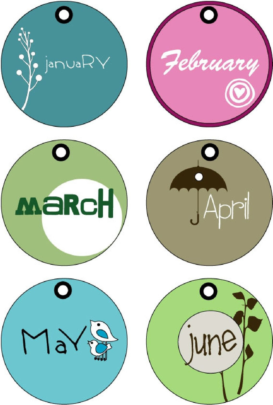Months Of The Year Tags (Printable)   Random Printables   Month - Free Printable Months Of The Year Labels