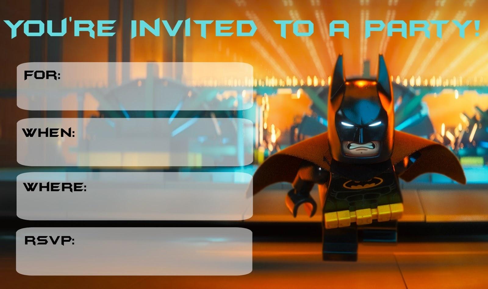 Musings Of An Average Mom: More Lego Batman Party Invitations - Lego Batman Invitations Free Printable