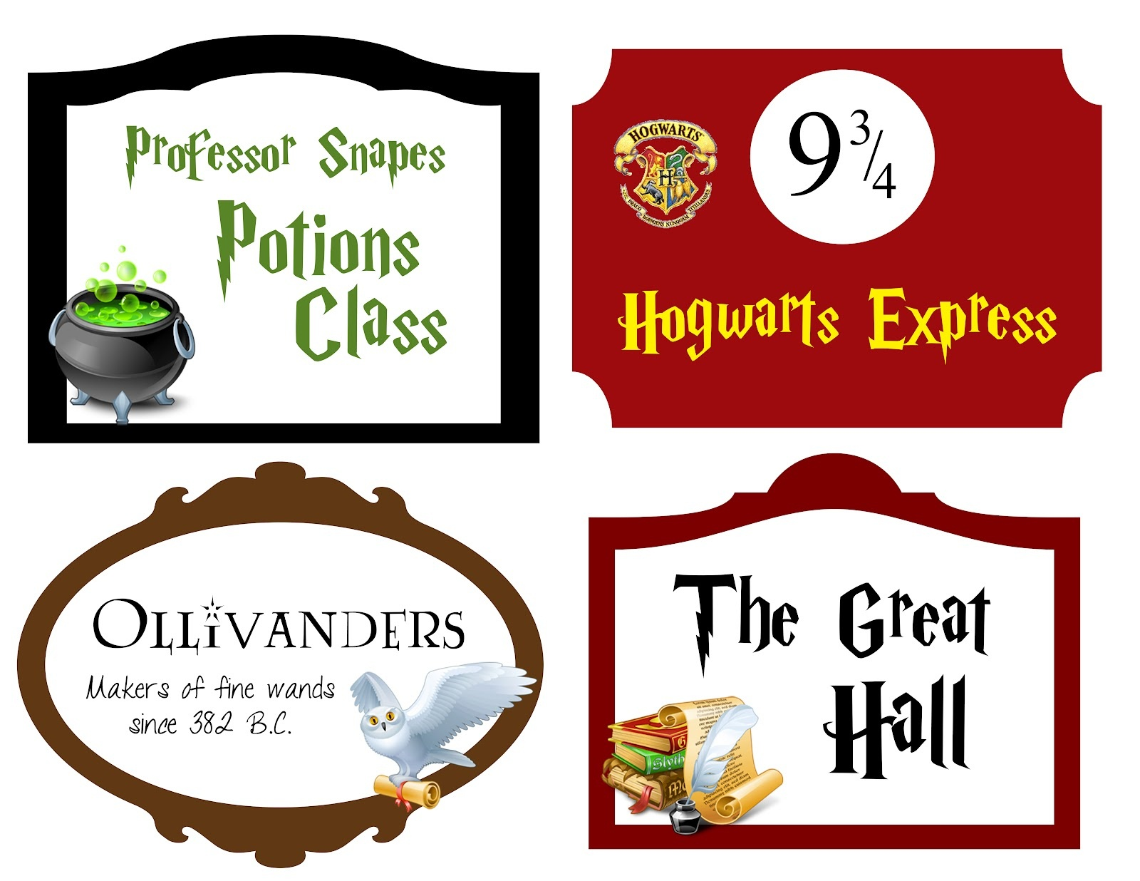 My Cotton Creations: Family Life: Harry Potter Party Free Printables - Free Harry Potter Printable Signs