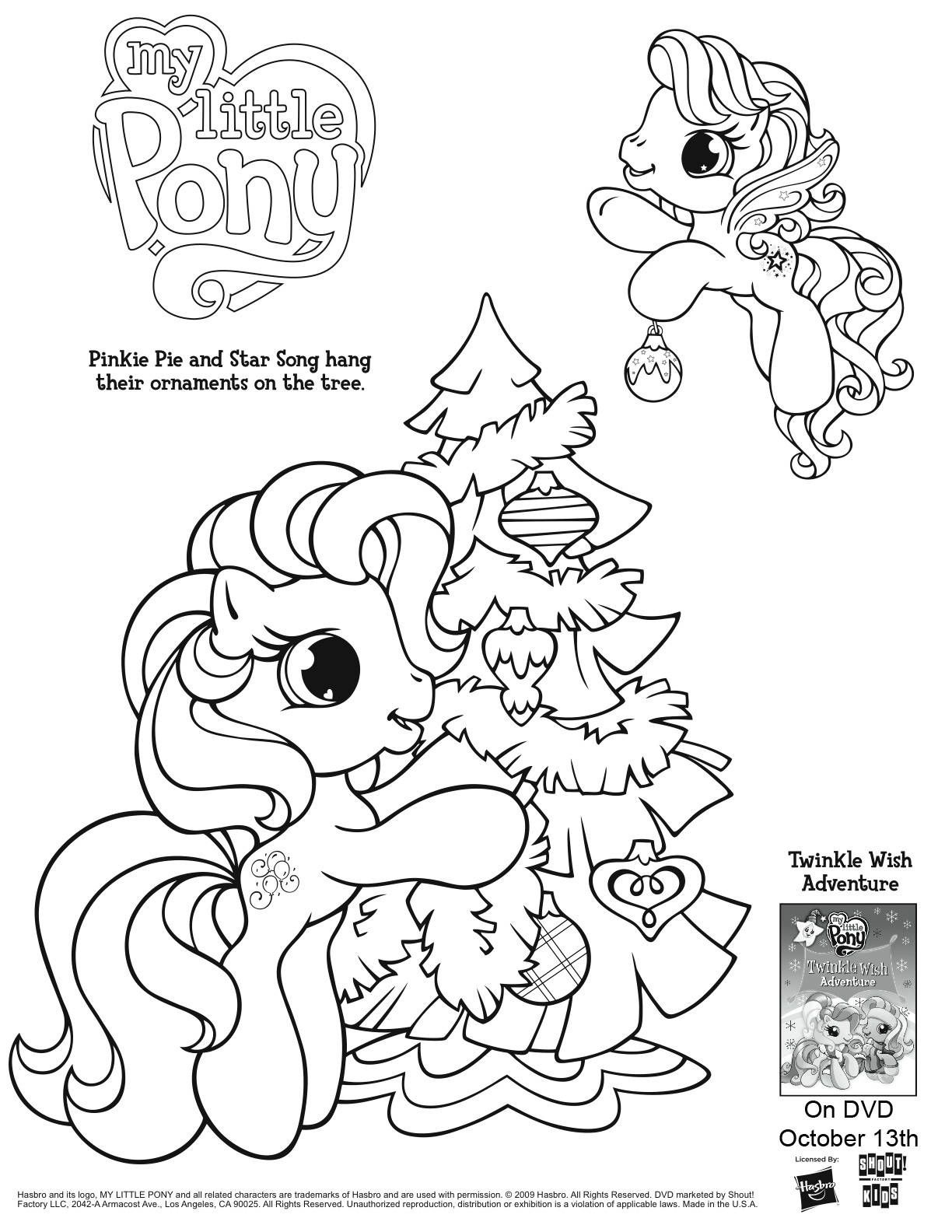 My Little Pony Coloring Page | Preschool | Christmas Coloring Pages - Free Printable Coloring Pages For 2 Year Olds