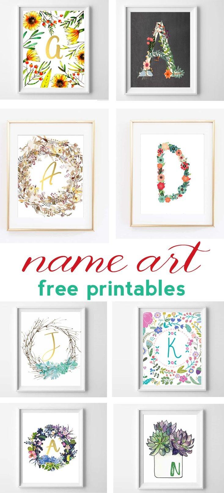 Name Art And Alphabet Printables {Free Printable Art} | Bloggers - Free Printable Photo Letter Art