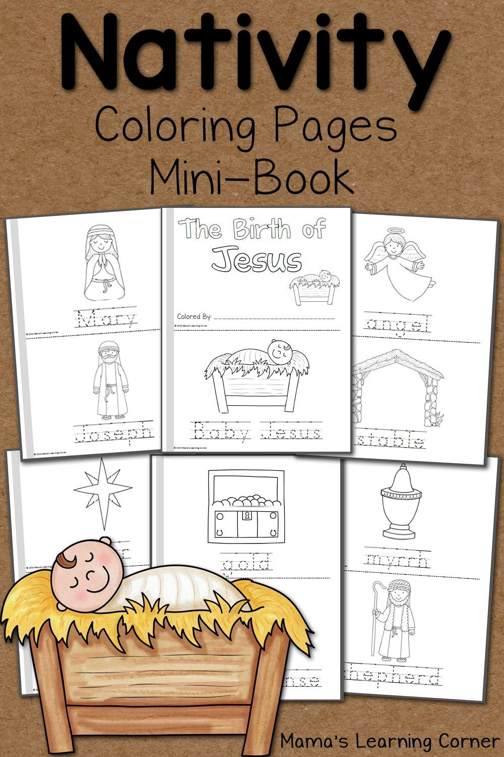 Nativity Coloring Pages   Printables   Nativity Coloring Pages - Free Printable Christmas Story Coloring Pages