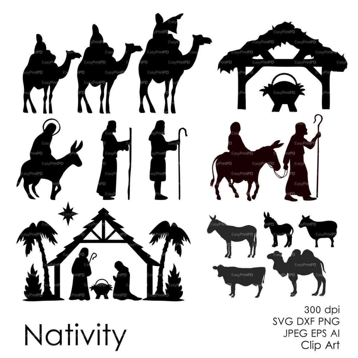 Nativity Silhouette Patterns Download   Free Download Best Nativity - Free Printable Nativity Silhouette