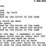 Negro Spiritual/slave Song Lyrics For I Am Free   Free Printable Song Lyrics