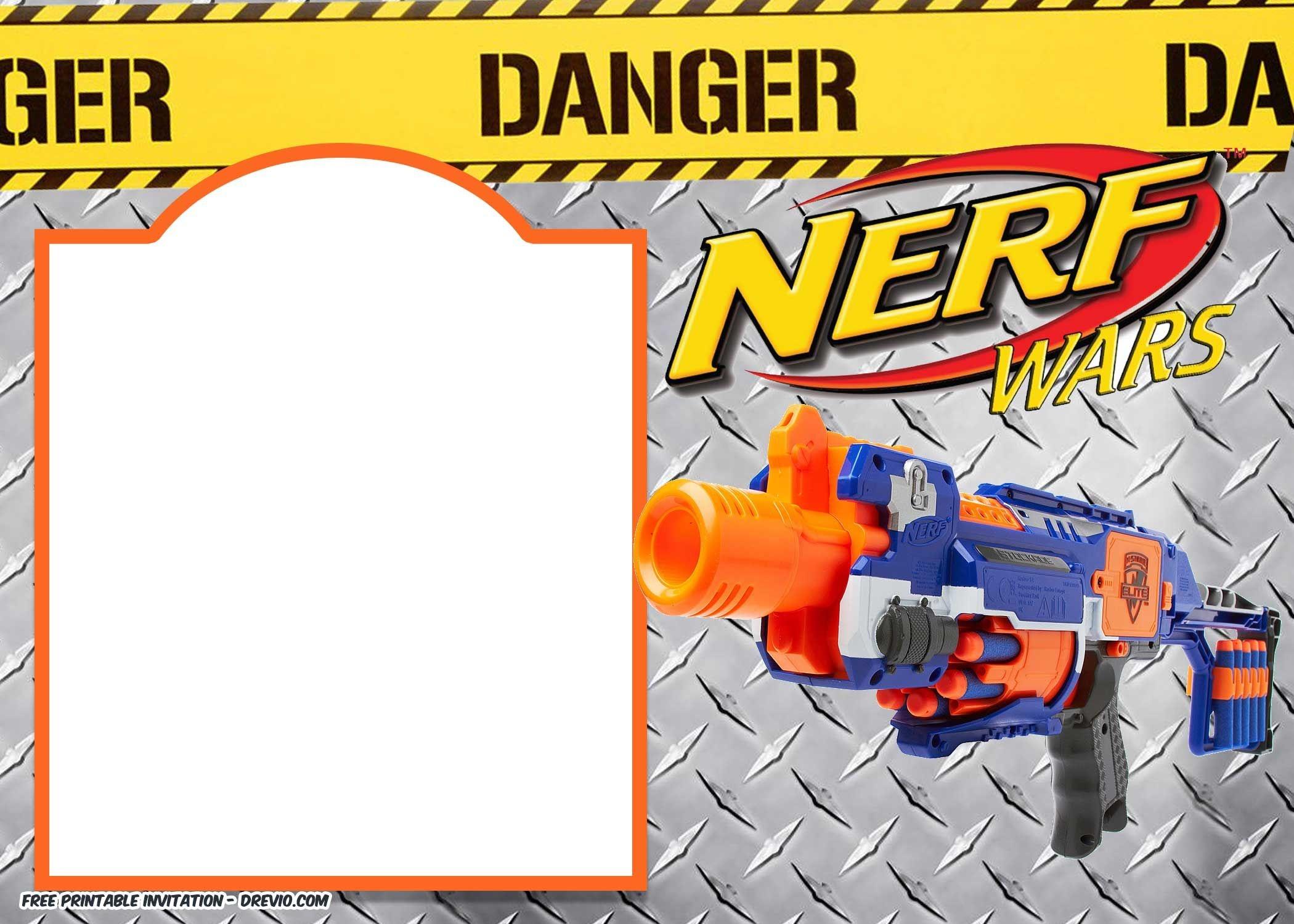 Nerf Gun Party Invitation Templates | Nerf Printables | Nerf - Free Printable Nerf Logo