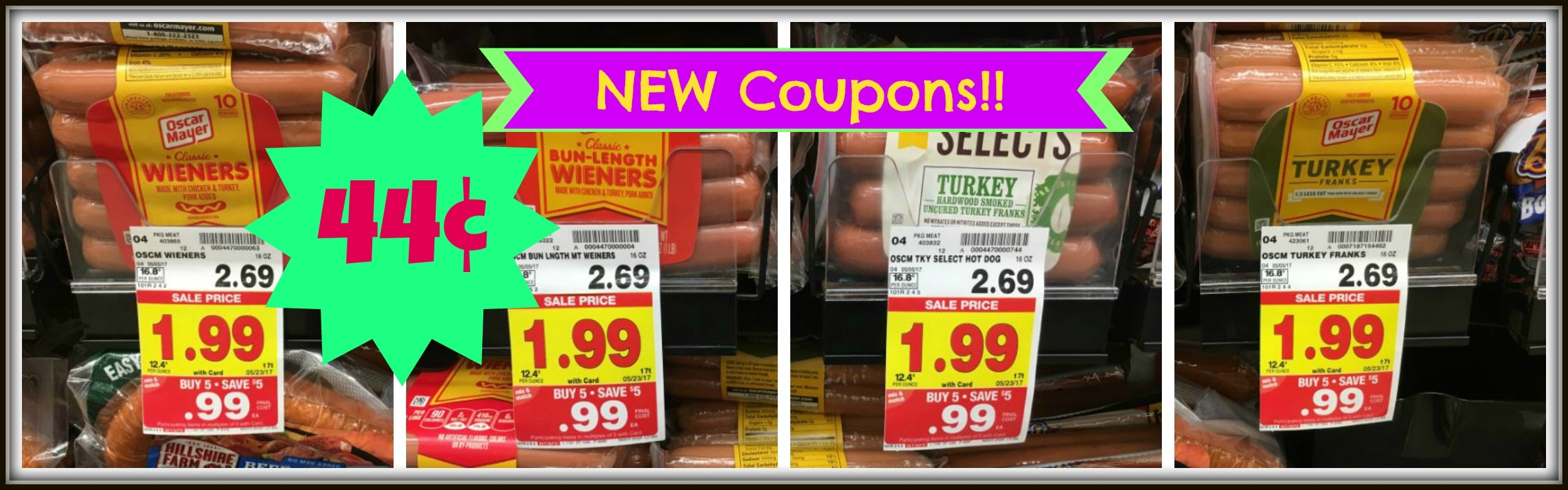 New Oscar Mayer Coupons| Hot Dogs Only $0.44 At Kroger!! | Kroger Krazy - Free Printable Oscar Mayer Coupons