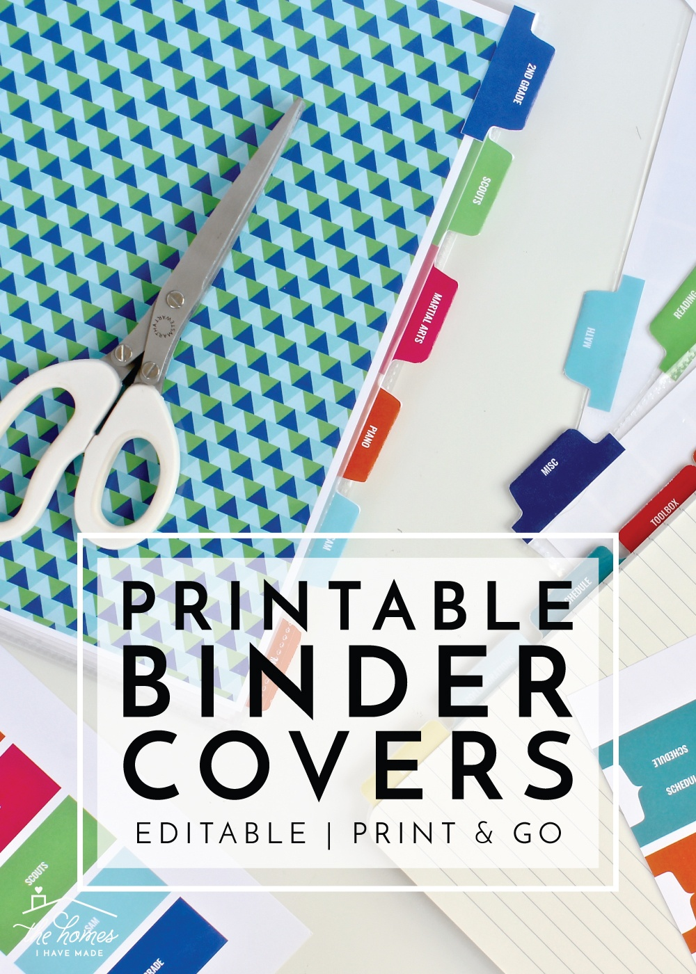 New To The Organization Toolbox: Printable Binder Covers And Tabs - Free Printable School Binder Covers