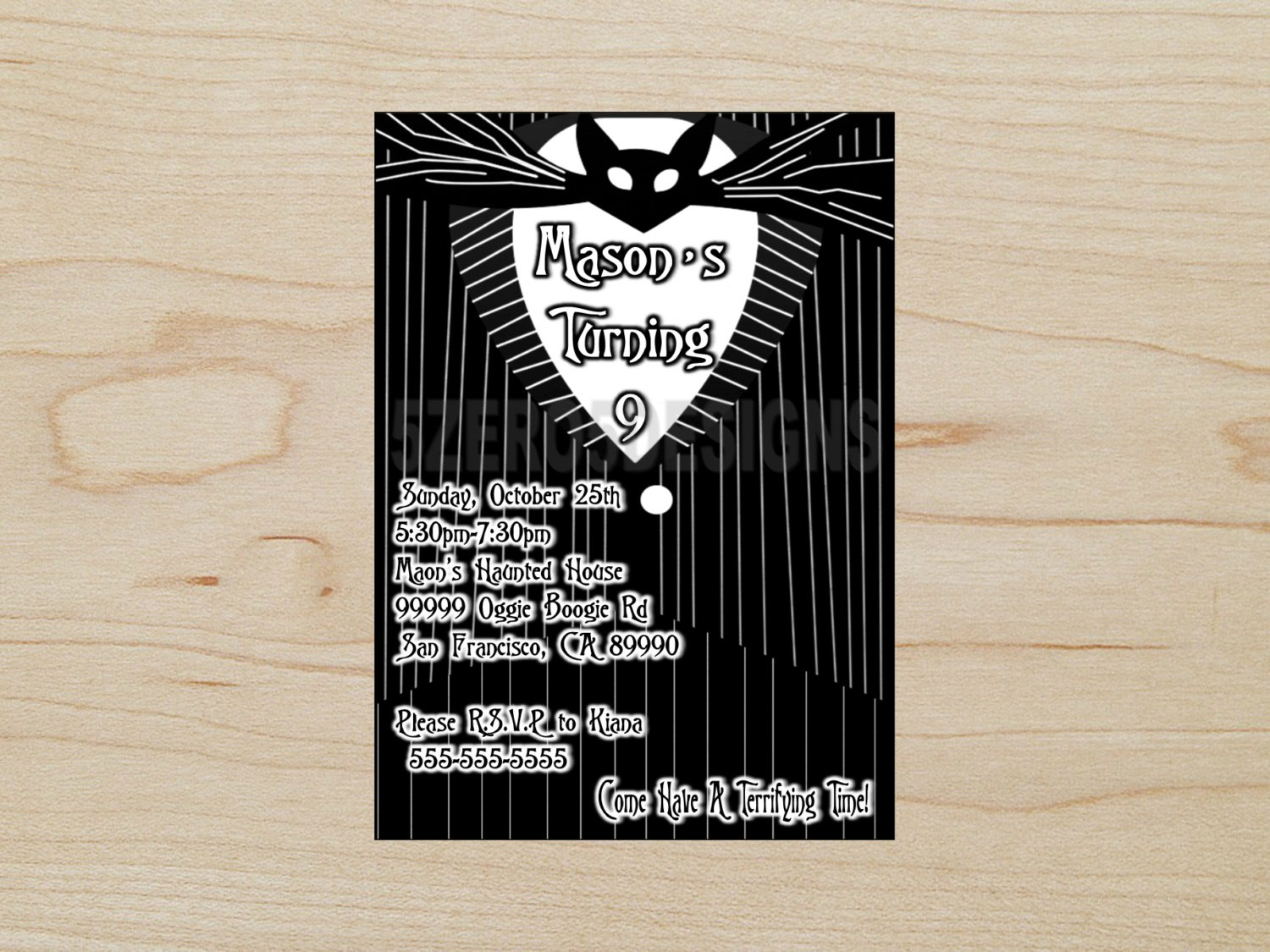 Nightmare Before Christmas Party Invitations Nightmare Before | Etsy - Free Printable Nightmare Before Christmas Birthday Invitations