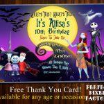 Nightmare Before Christmashalloween Invitationjack | Etsy   Free Printable Nightmare Before Christmas Birthday Invitations
