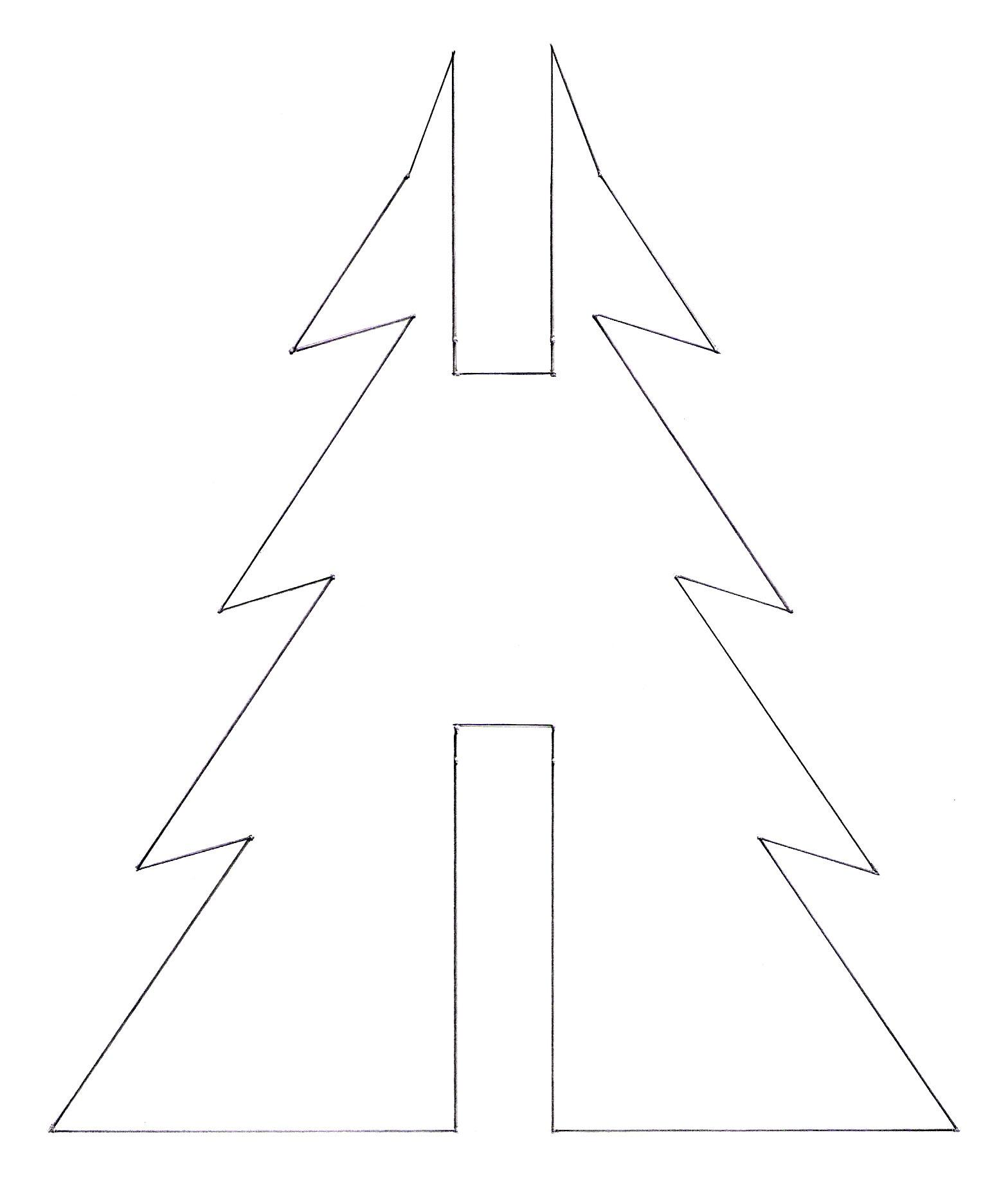 Not Martha — 3D Christmas Tree Gingerbread Cookies - Free Printable Cookie Stencils