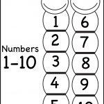 Number Chart 1-10 | Printable Worksheets | Number Chart, Worksheets – Free Printable Number Chart 1 20